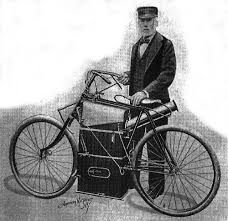 Sylvestor Roper with his Steam Bike