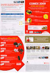 OCBC Credit Card Redemption Promotions COMEX 2009 Price List Brochure