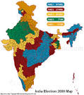 Map for Indian Election