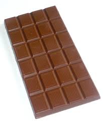 bar of chocolate.