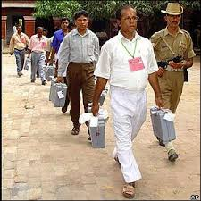 Election officials in Tripura