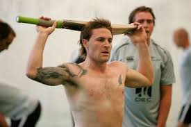 Brendon McCullum with tattoo
