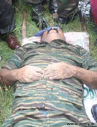 of Prabhakaran's body