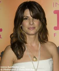 Sandra Bullock with her hair