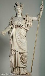 Athene holding a spear,
