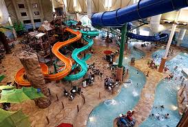 Visitors to Great Wolf Lodge