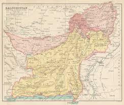 Map of Baluchistan (through