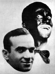 Al Jolson in and out of blackface makeup