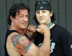 Sylvester Stallone Next To