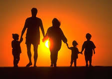 generic silhouette of family :)