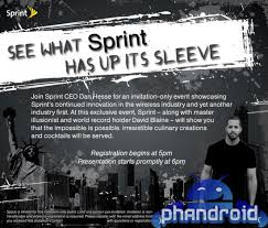 "Sprint and David Blaine Showing that ""the Impossible is Possible ..."