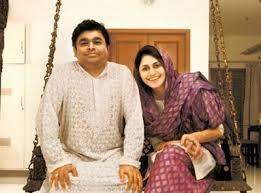 A.R.Rahman with wife Saira