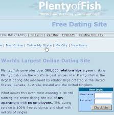 Portion of the PlentyofFish.com