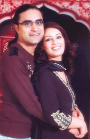 Farah Hussain with Husband