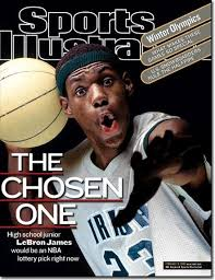 Famous SI LeBron James cover